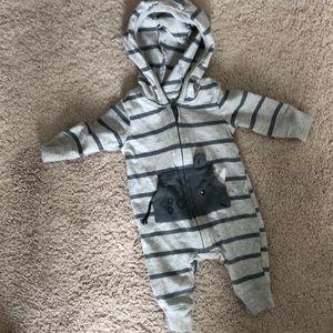 Carters Newborn Boys Rhino Pocket Zip Up One Piece